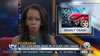 Two children killed after stolen car crashes in Broward County - Video