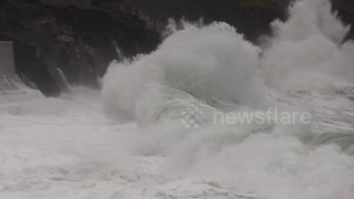 Huge waves from Storm Georgina pound the Cornish coast - Video