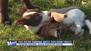 FDA warns about dog 'bone treats' after reports of pets getting sick - Video
