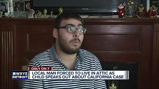 Local man forced to live in attic as child speaks out about California case - Video