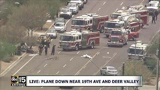 AIR15: Plane crashed near 19th Ave and Deer Valley in Phoenix - Video