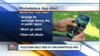 Police warn about risks of using marketplace apps