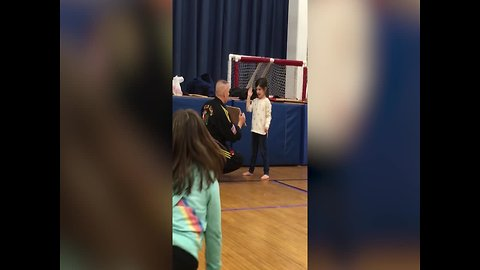 Aww – Girl gets so Excited when she does Karate!