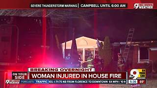 Woman injured in Columbia Township house fire - Video
