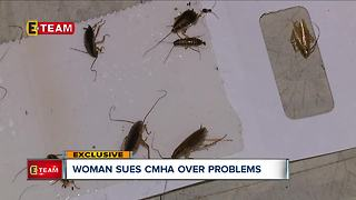 Resident sues CMHA for bad maintenance after feces and urine fill her home - Video