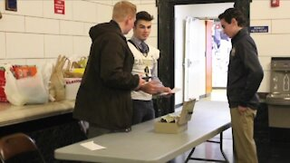 Canisius High School hosts holiday food drive