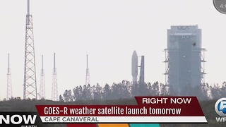 GOES-R weather satellite launch tomorrow - Video