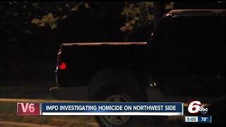 Man found shot to death inside truck after crash on Indianapolis' northwest side - Video