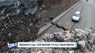 Residents call for repairs to old train bridge before someone gets hurt
