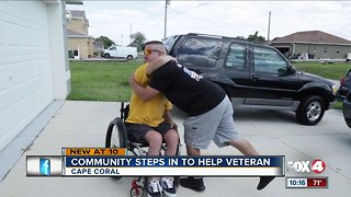 Community steps in to help local veteran