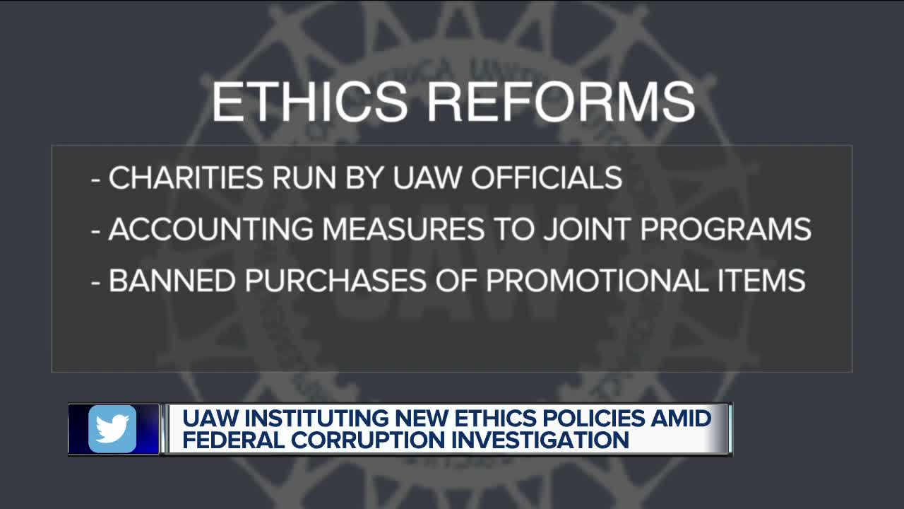 UAW announces ethics reforms amid federal investigation