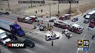 Two seriously hurt in crash near I-10 and 51st Avenue - Video