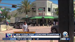 West Palm Beach launches 'clean team' - Video
