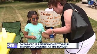 5-year-old's lemonade stand raises funds for immigrant children