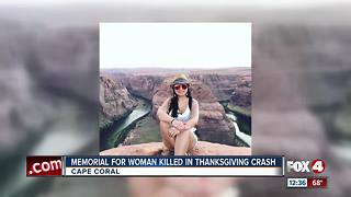 Memorial For Woman Killed in Thanksgiving Crash - Video