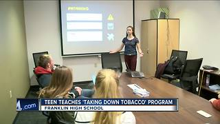 Franklin teen teaches about dangers of tobacco - Video