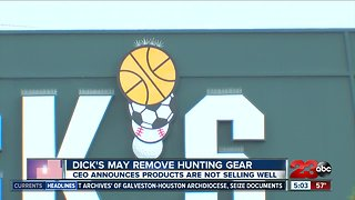 Dick's Sporting Goods may remove hunting gear from its stores