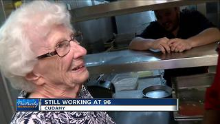 96-year-old Cudahy woman still working - Video
