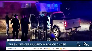Tulsa officer injured in police chase