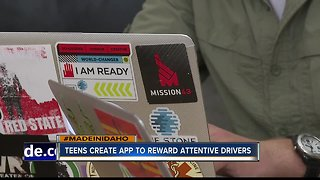 Teens develop app to eliminate distracted driving through point system