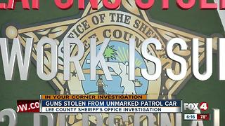 Guns stolen from unmarked deputy patrol car - Video
