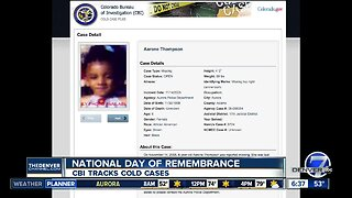 Today is National Day of Remembrance & CBI tracks cold cases online