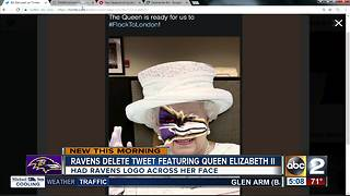 Ravens delete tweet featuring Queen Elizabeth II - Video