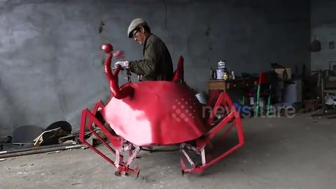 "Chinese farmer invents ""robo-crab"""