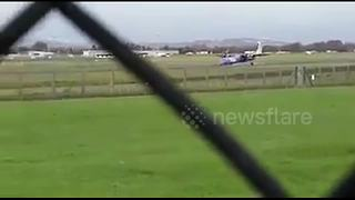 Pilot saves 56 on board after Flybe plane crash-lands at Belfast airport - Video