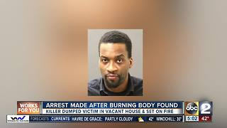 Murder Arrest after burned body - Video