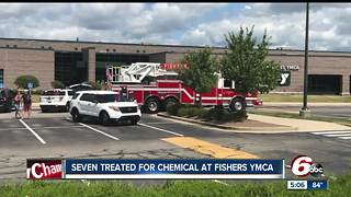 Seven people sickened after chemical spill reported at Fishers YMCA - Video