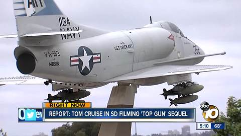 "Report: Tom Cruise in San Diego filming ""Top Gun"" sequel"