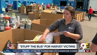 Cincinnati Metro bus system collecting donations for Harvey relief - Video