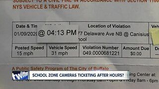 School zone cameras ticketing after hours?
