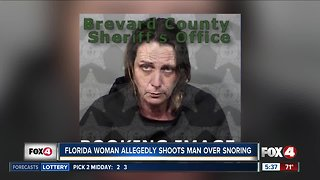 Florida woman accused of shooting a man over snoring