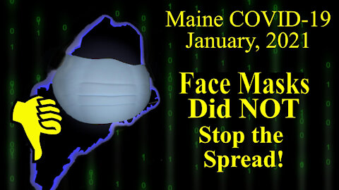 Face Masks Did NOT Stop Spread of COVID-19 in Maine During Surge of Dec. 2020 - Jan. 2021