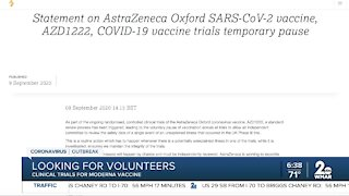Looking for volunteers for vaccine trial