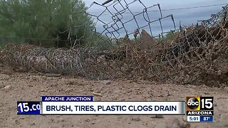 Monday's storm causes huge mess in Apache Junction