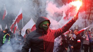While Macron Rebuked Nationalism, Nationalists Marched In Poland