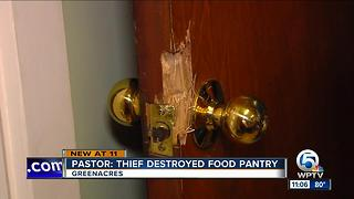 Church burglary puts food pantry at risk - Video