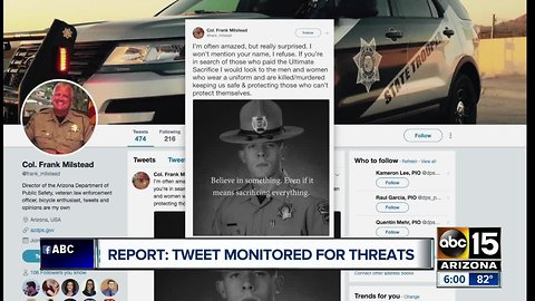 Tweet monitored for threats