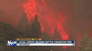 Local crews helping battle Cranston Fire - Video