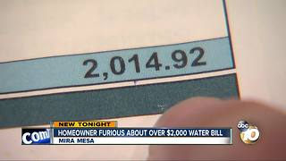 Homeowner furious about $2,000+ water bill - Video