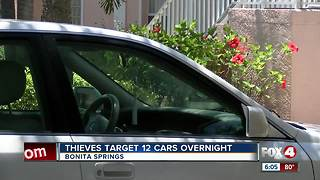 Car burglars target Bonita Springs neighborhood - Video