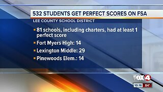 532 Students get perfect scores on FSA in Lee County