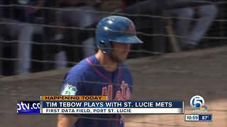 Tim Tebow to debut with St. Lucie Mets on Tuesday - Video