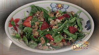 What's for Dinner? - Spring Strawberry Salad with Chicken