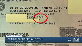 Stimulus money and you: Why are deceased people still getting checks?