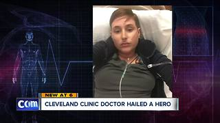 Cleveland Clinic cardiologist, NC doctor save woman's life on airplane after allergic reaction - Video