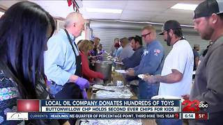 Local oil company holds toy drive to benefit Buttonwillow CHP CHiPs for Kids - Video
